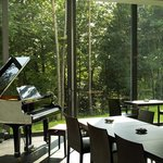 Piano in Restaurant Atrium
