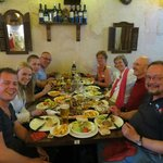 our group inundated with good food