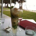 Lychee vodka cocktail at Sails Noosa Qld