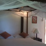 Double bed in Fisherman Bungalow
