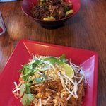 Pad Thai and Korean Beef with Broccoli