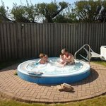 Hot tub near bungalows