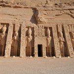 Temple of Hathor and Nefertari, statues, Abu Simbel Temples, May 2013