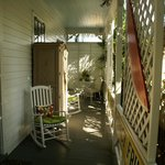 Wonderful front porch of our room.