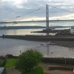 Great view of the Forth road bridge from bedroom window