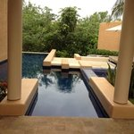 private pool and jacuzzi