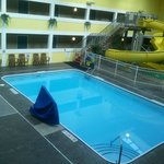 Pool area at Best Western in Ludington, Michigan