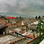 Another view of Quito from rooftop terrace.