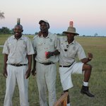 Our three 'mokoro drivers' during sundowners