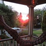 Sunset off Regina's side porch