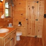 One of three bear-themed en-suite bathrooms