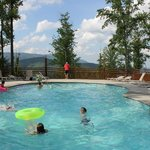 Pool (unheated) with beautiful mountain view