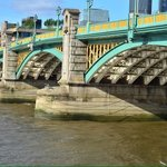 Southwark bridge on the thames river.