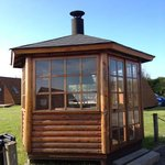 glass BBQ hut