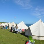 Bell tents at Pencarnon Farm