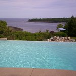Infinity Pool overlooks cove