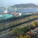 Incheon harbor seen from our room