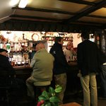 The bar at the Cornish Arms