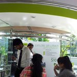 a pleasant surprise to see Etisalat / Lanka services @ air port