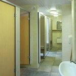 Toilet facilities with individual cubicles