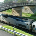 Amtrak's Pennsylvanian from the Tunnel Inn B&B