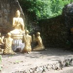 buddha statue at backside of mt phousi