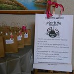 Upon entering the lobby, each guest had a gift bag from the happy couple :)