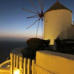 The iconic windmill where Golden Sunset Villa is located