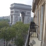View of the L'Arc de Triomphe from our hotel balcony
