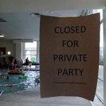 Guests were not allowed to use the pool because they rented it out without telling the hotel gue