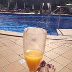 Buck's Fizz by the pool