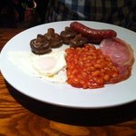 breakfast upgrade £4.95 cold congealed beans