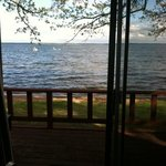 View from Cabin #6 - just a few feet from the lake!