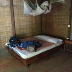 double bed private hut