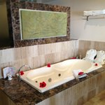 In room Jacuzzi bath in swim up suite