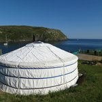 Sunshine and yurt views