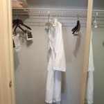 Stocked with one robe during stay (you could probably ask for a second, they are very accommodat
