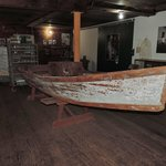 Small skiff on display