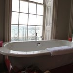 The bath in the window