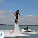 Russell having a go with Aquatic Jetpacks Sunday 9th June 2013