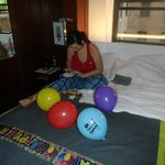 Our room decorated by my partner for my 30th birthday :-)