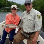 HUGE Brook Trout with Dave (The Angler's Song Guide Service)