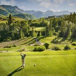 Mountain views from the Tee at the Telluride Golf Club
