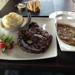 Cow Boy Cut Rib Eye with Wild Mushroom Sauce