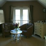 Double Bedroom with Juliet Balcony and view overlooking the Tamar