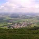 Falkland Village from the top of East Lomond Hill