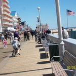 The boardwalk right outside the hotel..