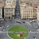 looking down on Piazza Venezia