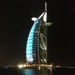 View of Burj Al Arab opposite this hotel