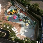 View of the kids water park from the 9th floor